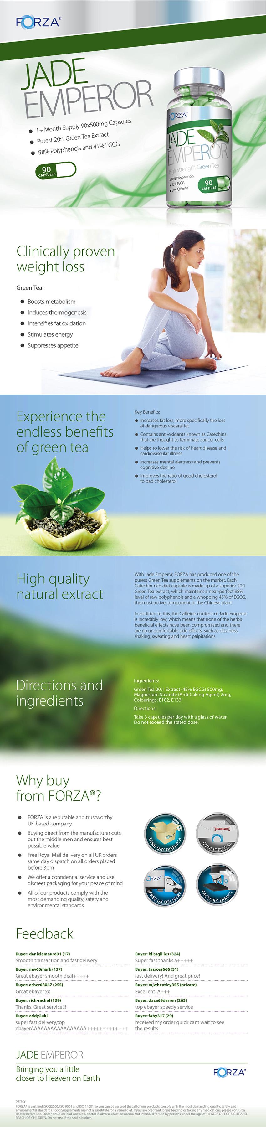 Таблетки для похудения FORZA Jade Emperor - Green Tea Slimming Pills - High Strength Diet Pills в интернет магазине Ru-ebay.com